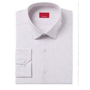 👔2Alfani Slim Fit Stretch Square-Dot Dress Shirts